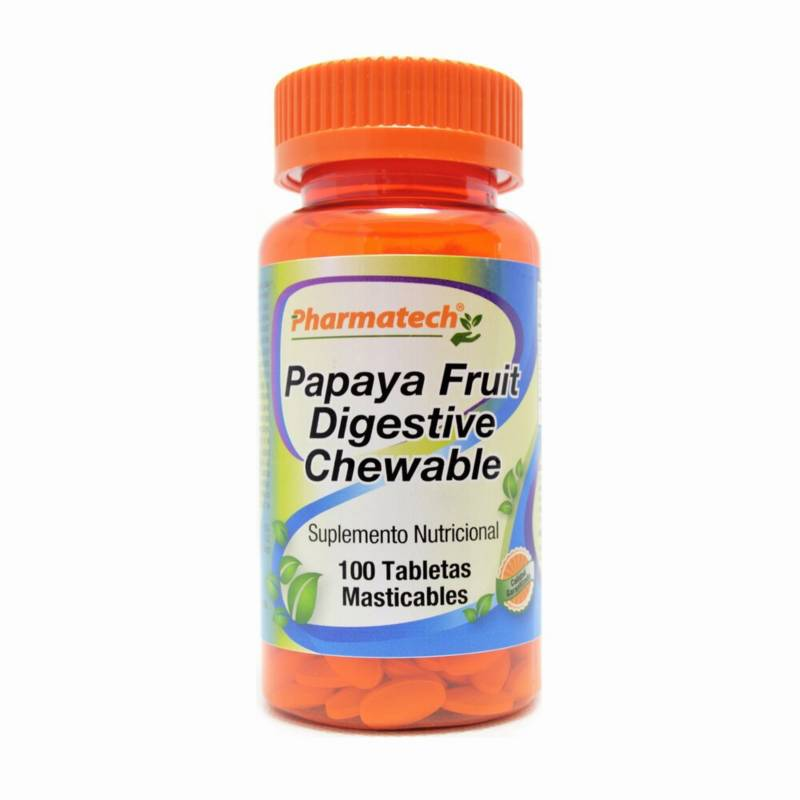 PHARMATECH - Papaya Digestiva Enzimas Masticables x 100