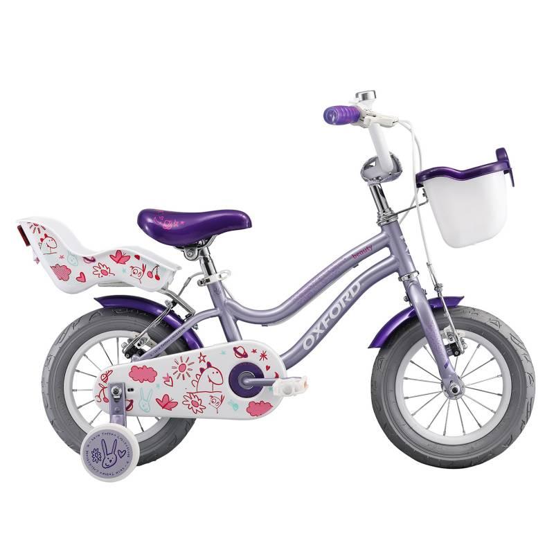 OXFORD - Bicicleta Aro 12 Beauty 1V Lila-Fucsia