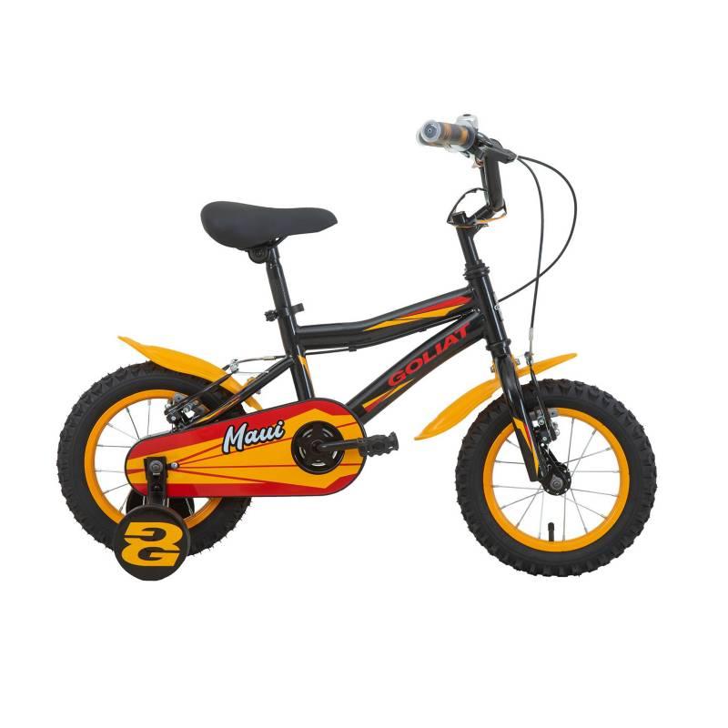 GOLIAT - Bicicleta Infantil Maui Negro Aro 12