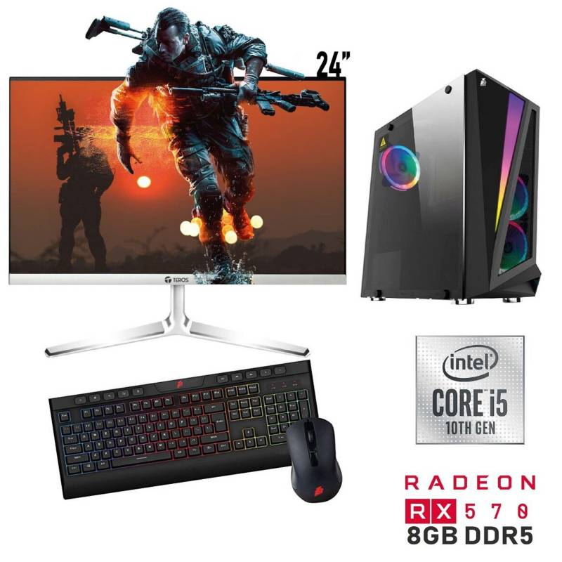 PC-YA - Pc Gamer core i5 16GB 1TB RX570 8GB 24""
