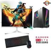 """PC-YA - PC Gamer AMD Ryzen 3 8GB 1TB RX570 8GB 24"""""""