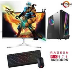 """PC-YA - PC Gamer AMD Ryzen 5 16GB 480GB RX570 8GB 24"""""""