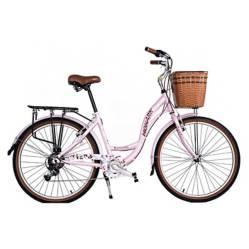 "Monark - Bicicleta Romantic Aro 26"" Coral"