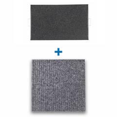 REYEMSA - Kit Bandeja Desinfectante para Calzado 40x50 + Tapete para Secado