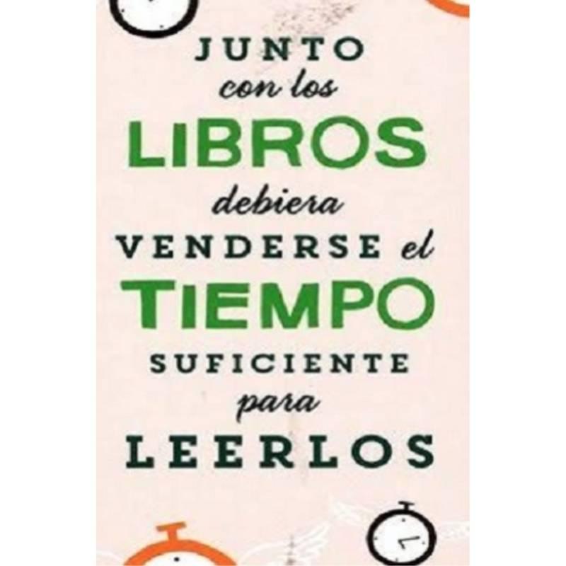 """IBERO - Marca Páginas """"Junto Con Los Libros Debería Venderse El Tiempo Suficiente Para Leerlos"""""""