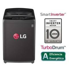 LG - Lavadora LG Carga Superior Smart Inverter con TurboDrum WT16BSB 16 Kg Negra