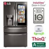 LG - Refrigeradora LG French door InstaView Puerta Mágica 679 LT LM85SXD Negra