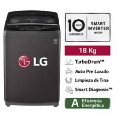 LG - Lavadora LG Carga Superior Smart Inverter con TurboDrum WT18BSB 18 Kg Negra