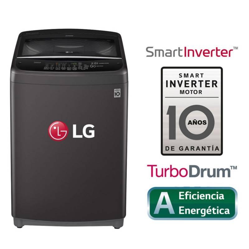 LG - Lavadora LG Carga Superior Smart Inverter con TurboDrum WT18BSB 18 Kg Negro claro