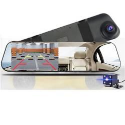 ITELSISTEM - Espejo Retrovisor para autos con doble cámara
