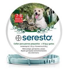 BAYER - Collar Antipulgas para Perros y Gatos Seresto menos de 8kg