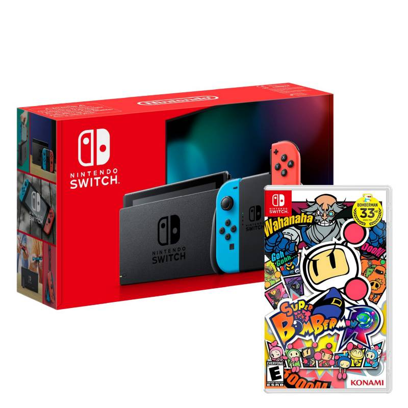 NINTENDO - Consola Nintendo Switch Neon +Super Bomberman R