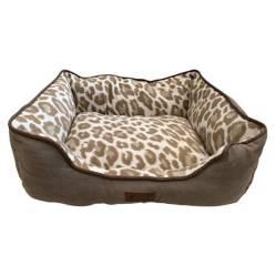 GOOSE - Cama Para Mascotas Goose Marron Leopardo Talla L