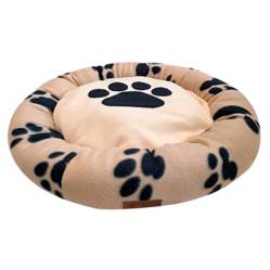 GOOSE - Cama Para Mascotas Goose Ovalada Huella Negra