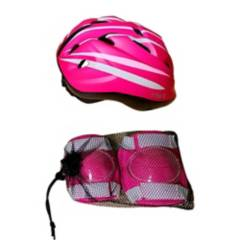 BKS - Kit de Protección Bicicleta BKS Niñas Casco Talla S