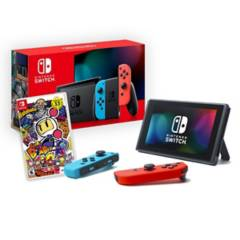 NINTENDO - Consola Nintendo Switch 2019 Neon + Super Bomberman
