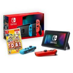NINTENDO - Nintendo Switch 2019 Neon + Captain Toad Treasure Tracker