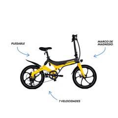 "Monark - Bicicleta Eléctrica E-Lite Aro 20"" Negro Amarillo"