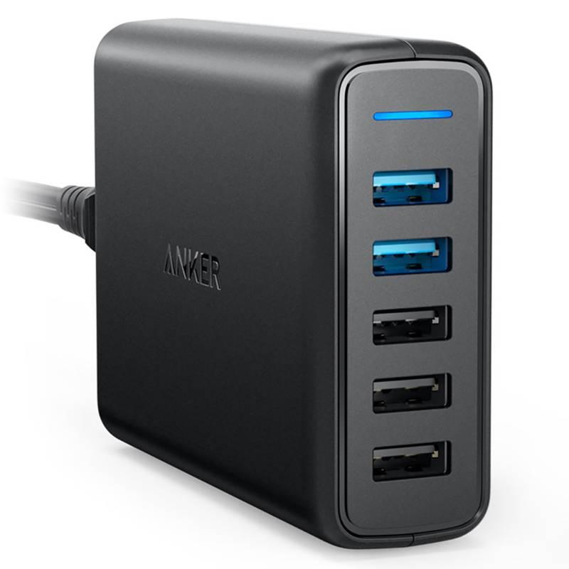 ANKER - Cargador de Pared PowerPort USB 5 puertos