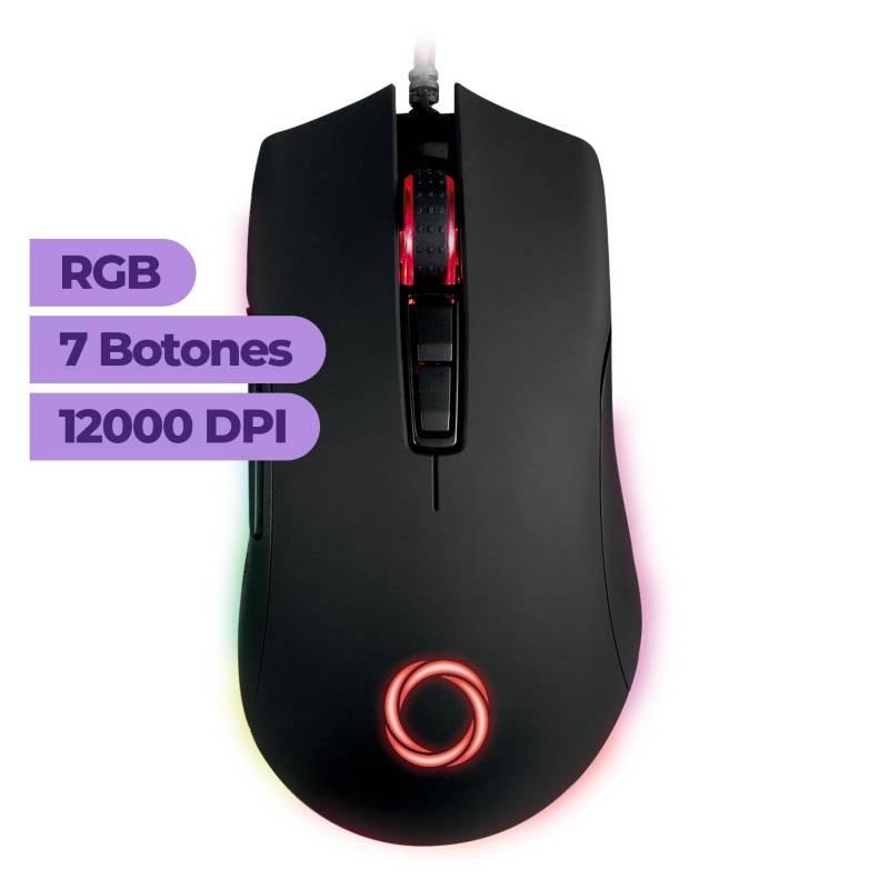 NIBIO - Mouse Gamer Trigger RGB 12.000 DPI Programable
