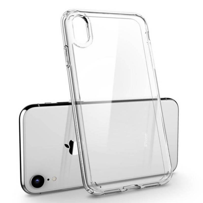 UBY - Case Funda Iphone XR de TPU Transparente + Aro