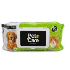 PET CARE - Toallas húmedas para perros X 300UND Lemon