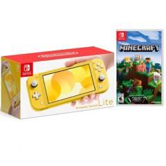 NINTENDO - Consola Nintendo Switch Lite Amarill +Minecraft