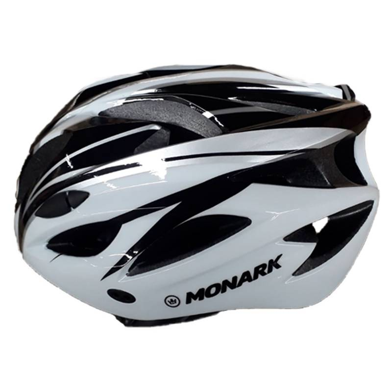 Monark - Casco MTB Negro Blanco Gris Talla L