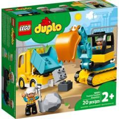 LEGO - Lego 10931 Camión y Excavadora con Orugas