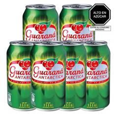 GUARANA - Pack x 6 Guaraná Antarctica Original 350ml