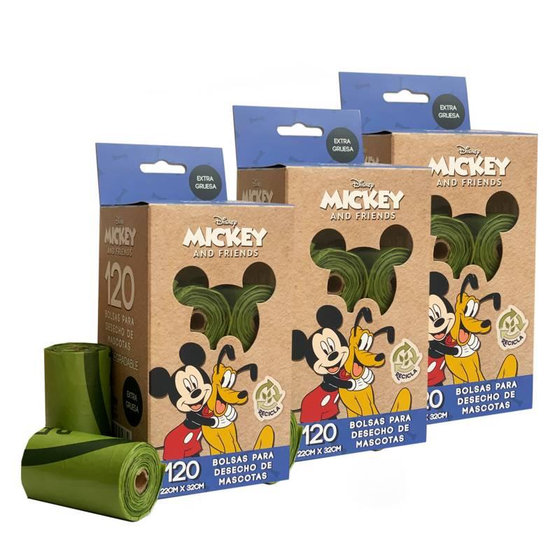 DISNEY - Pack x 3 Bolsas Compostables para Mascotas
