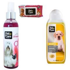 PET CARE - Pack Colonia+Shampoo+ toallitas húmedas