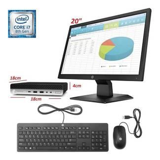 """HP - PC mini core i7 16GB 500GB W10PRO 19.5"""""""