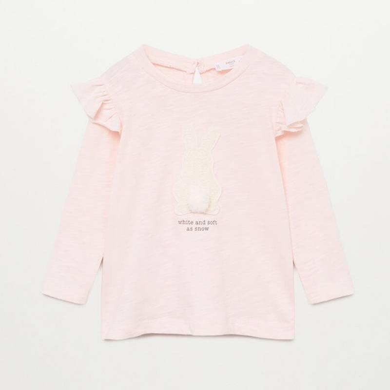 MANGO KIDS - Camiseta Manga Larga Bunny Algodón Bebé Niña