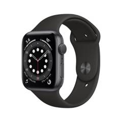 APPLE - Apple Watch Series 6 GPS, 44mm Space Gray Aluminium Case with Black Sport Band