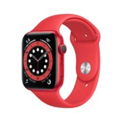APPLE - Apple Watch Series 6 GPS, 44mm PRODUCT(RED) Aluminium Case with PRODUCT(RED) Sport Band