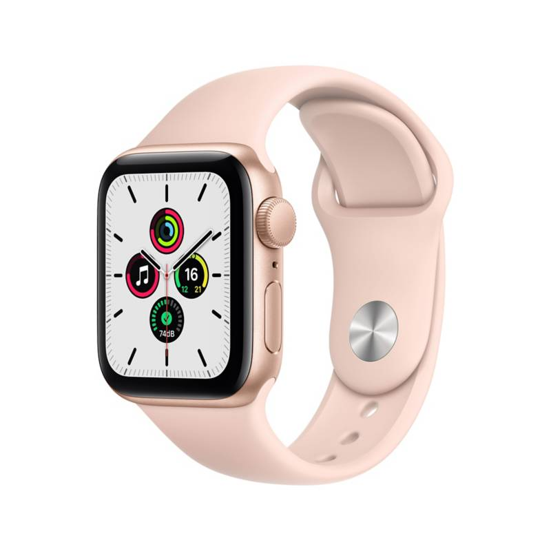 APPLE - Apple Watch SE GPS, 40mm Gold Aluminium Case with Pink Sand Sport Band