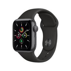 APPLE - Apple Watch SE GPS, 40mm Space Gray Aluminium Case with Black Sport Band