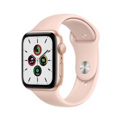 APPLE - Apple Watch SE GPS, 44mm Gold Aluminium Case with Pink Sand Sport Band
