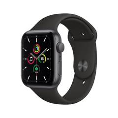 APPLE - Apple Watch SE GPS, 44mm Space Gray Aluminium Case with Black Sport Band