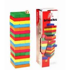 GENERICO - Jenga de colores 54 piezas