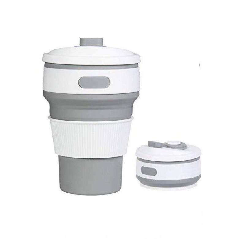 GENERICO - Vaso Plegable de Silicona 350 ml GRIS