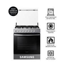 SAMSUNG - Cocina a Gas NX52T3310PV, 6 hornillas Silver