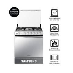 SAMSUNG - Cocina a Gas NX52T7322PS, 5 hornillas Mirror Look