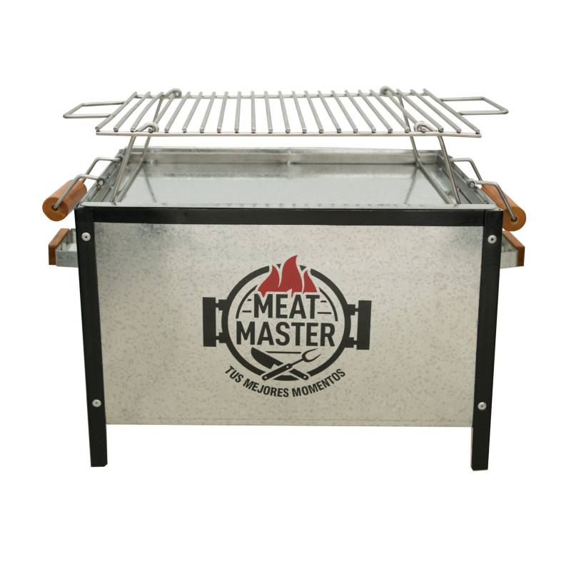 MEAT MASTER - Caja China Master Galvanizada Chica + Parrilla De Varilla Inox