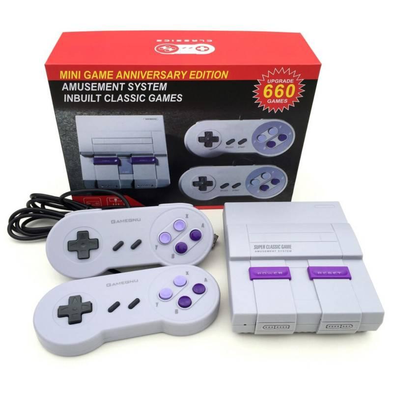 GENERICO - Consola Mini SNES-Super Ns Retro 660 juegos