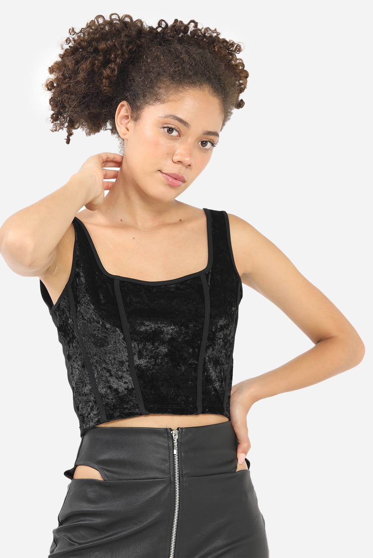 MOSSIMO - Top Corset Velvet Mujer