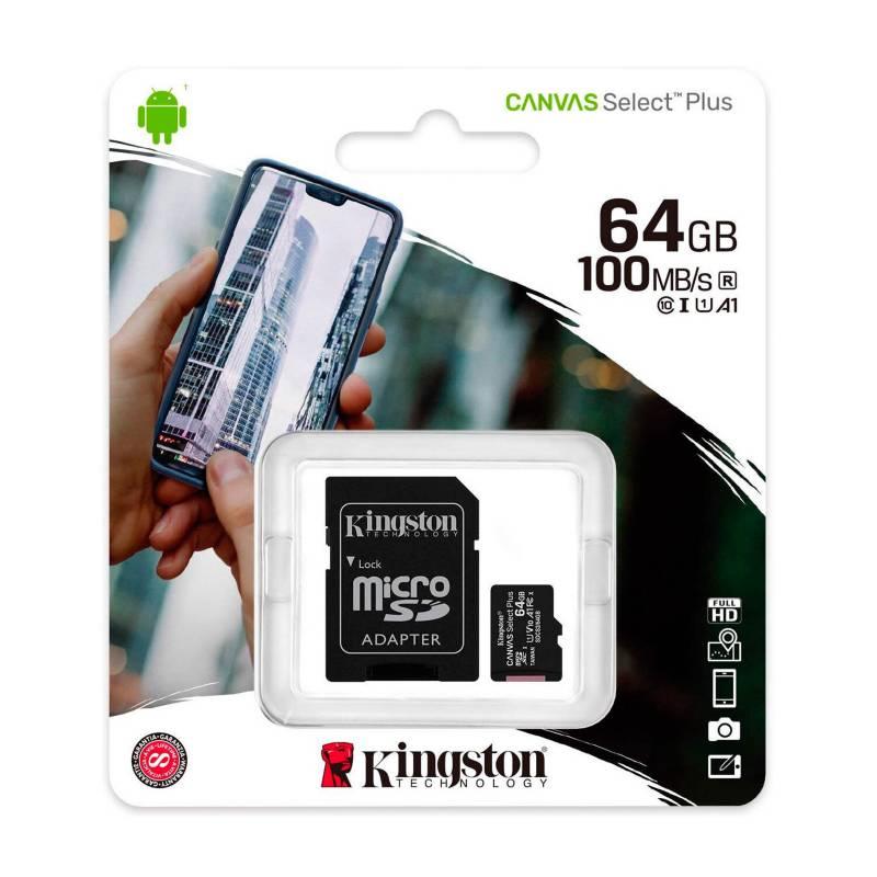 KINGSTON - Memoria Microsd 64 Gb clase 10