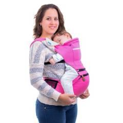 MONCHITOS ACCESORIOS - Baby Hip Carrier Rosado Canguro Con Asiento