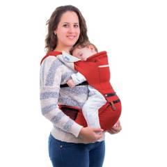 MONCHITOS ACCESORIOS - Baby Hip Carrier Rojo Canguro Con Asiento